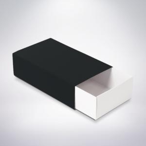 Krabička na makarónky čierna 160x90x45