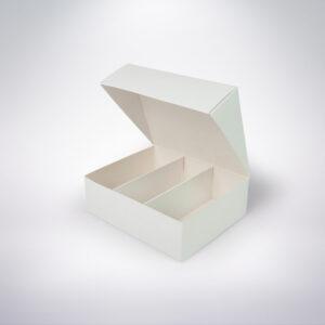 Krabička na makarónky biela 140x115x45