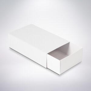 Krabička na makarónky biela 160x90x45