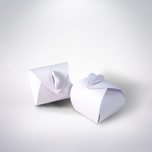 Krabička na makarónky biela 50x50x50